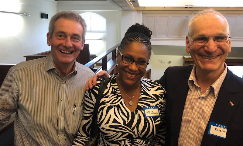 Prof Thomas Schulz, Dr Christine Carrington and Prof Ronib Weiss at Robin's 80th birthday symposium. Feb 2020