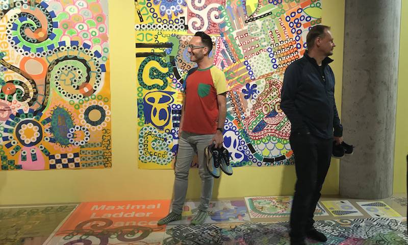 John and Greg contemplate CAPSID at 'Home' in Manchester