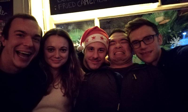 Dejan, Claire, Rich, Chris and Doug at 'Watch Me' Christmas 2017
