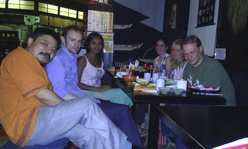 Dinner with Yasu Takeuchi, Ben Webb, Srinikar Ranasinghe, Helen Zenner, Laura Yilnen and Greg Towers