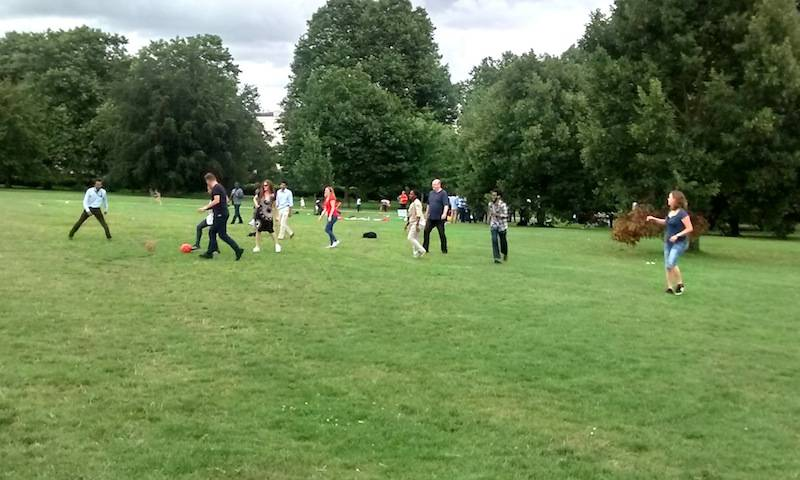 Football at the Towers picnic in Regents Park, 2016