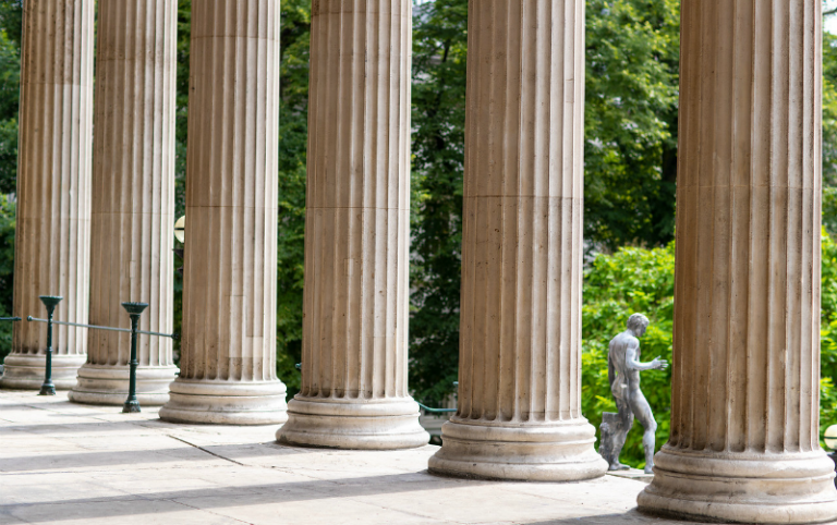Photo of the UCL portico columns