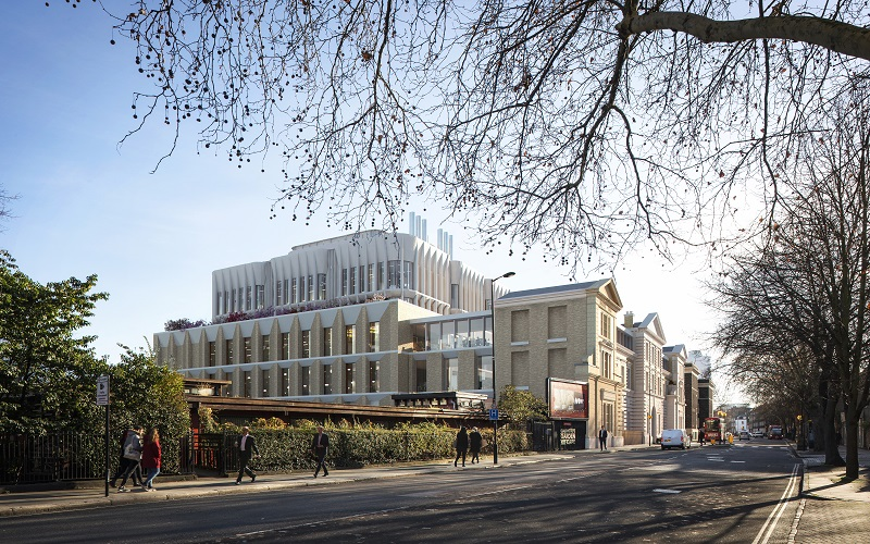 a computer rendered image of the redeveloped site at grey inn road