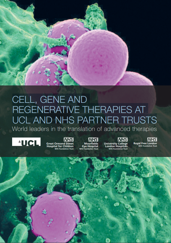 cell, gene and regenerative medicine at UCL and NHS partner trusts