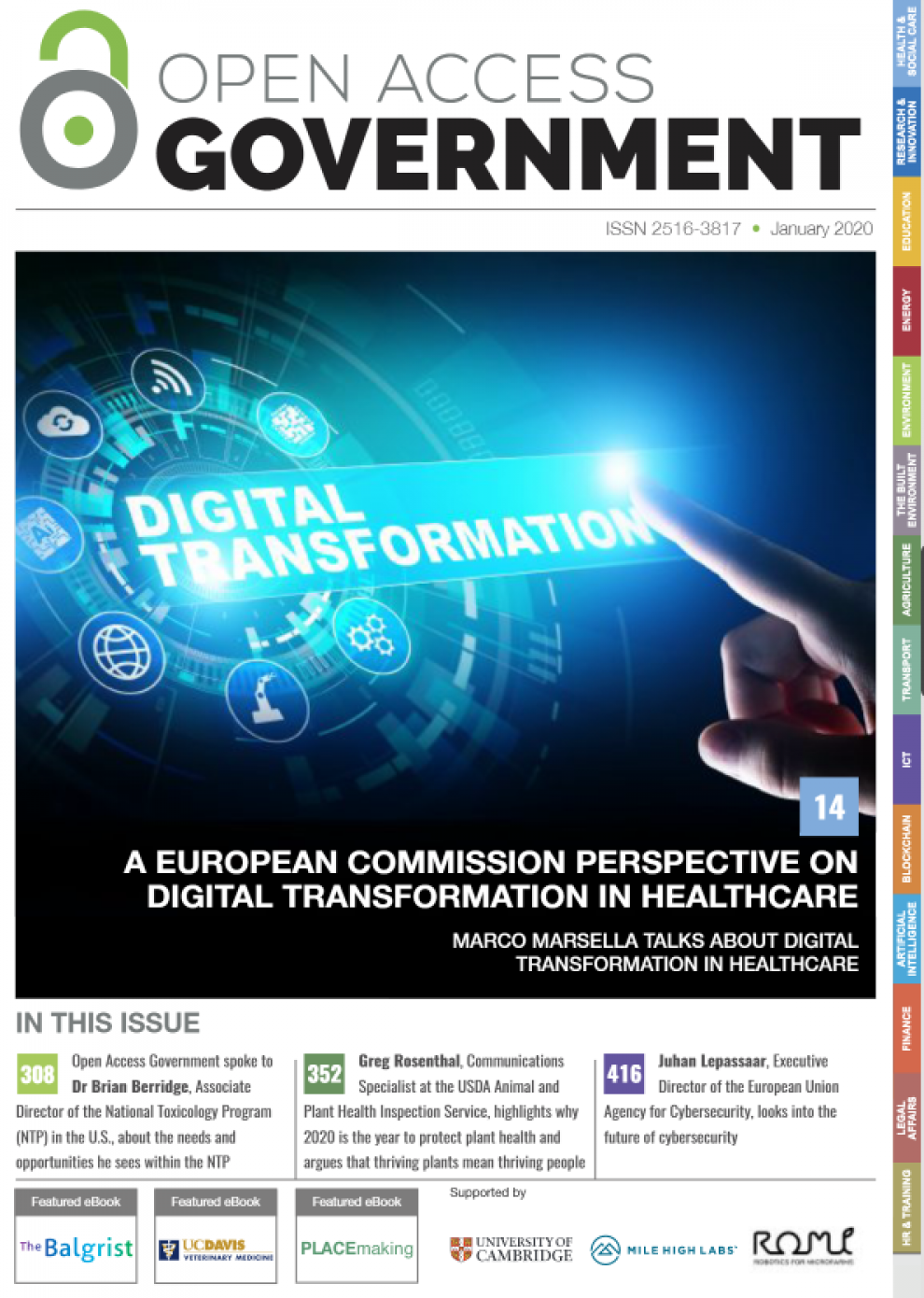 Open Access Government Jan 2020 cover