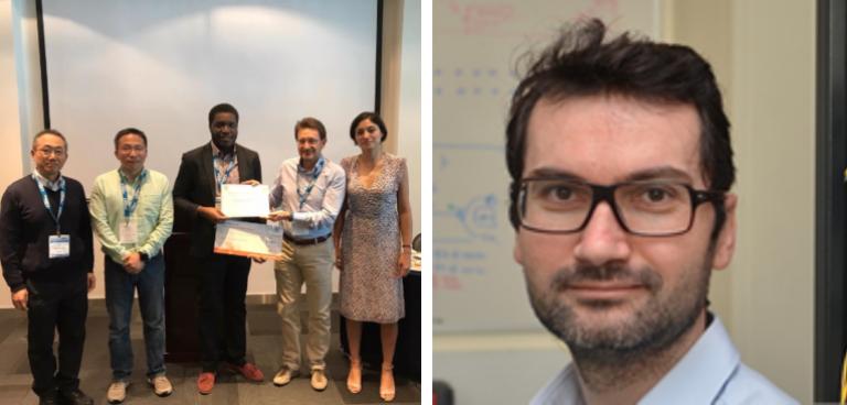 Dr Zervas' co-authors collecting the Fabio Neri award