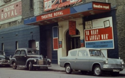 Exterior archive photograph of the old Theatre Royal.