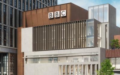 BBC music studios CGI rending.