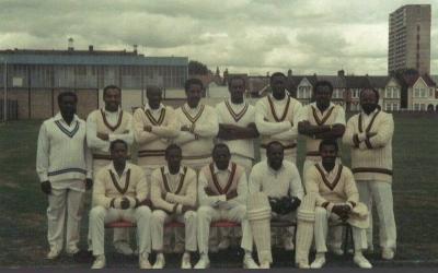 Windrush generation cricket team photograph.