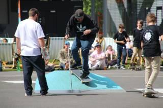 Skaters at festival