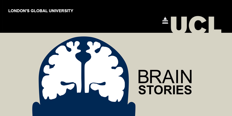 Brain Stories thumbnail graphic with a picture of a brain