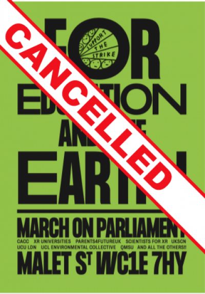 Climate demo cancelled