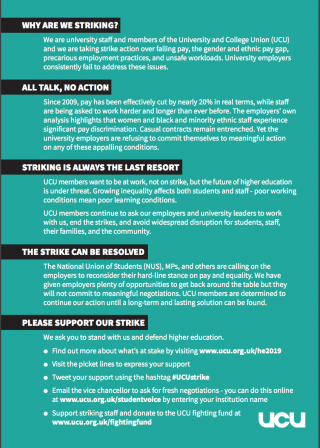 Four fights one voice - download the leaflet