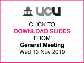 Download slides from General Meeting (13/11/19) here