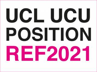 UCL UCU position on REF2021