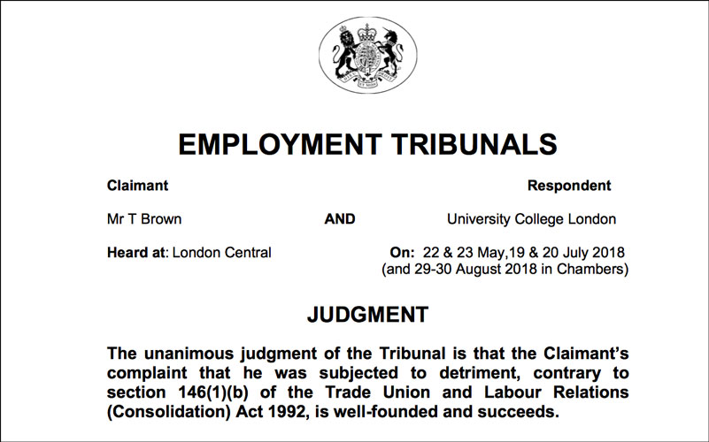Employment Tribunal Judgment