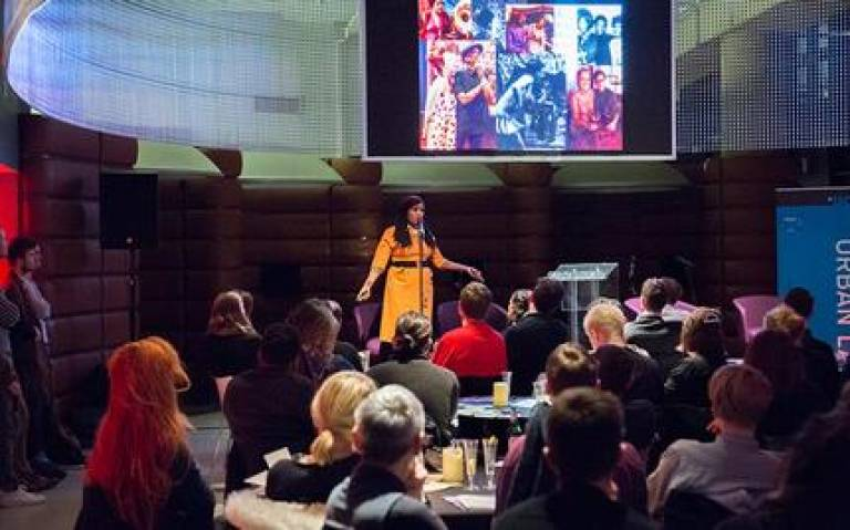 Chardine Taylor-Stone presents at UCL Urban Laboratory's Queer night scenes event at the Museum of London on 13 February 2018