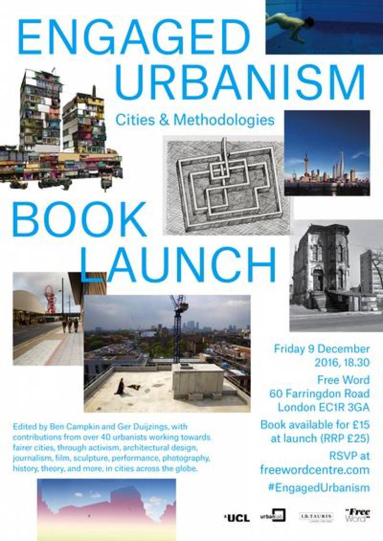 Engaged Urbanism book launch poster