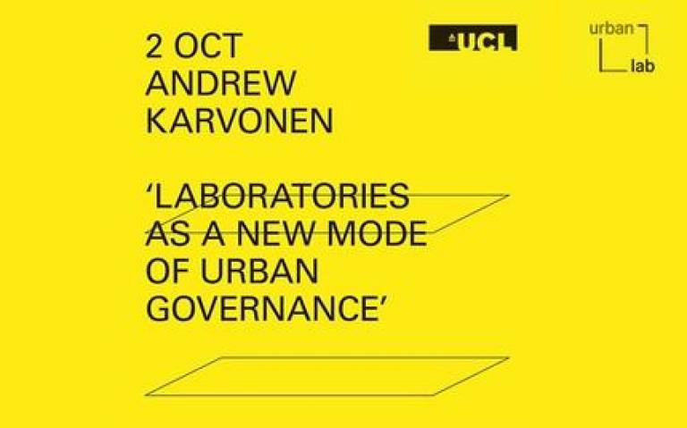 Urban Laboratory Lecture Series - Andrew Karvonen