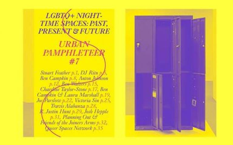 Cover pages from Urban Pamphleteer #7 LGBTQ+ Night-Time Spaces