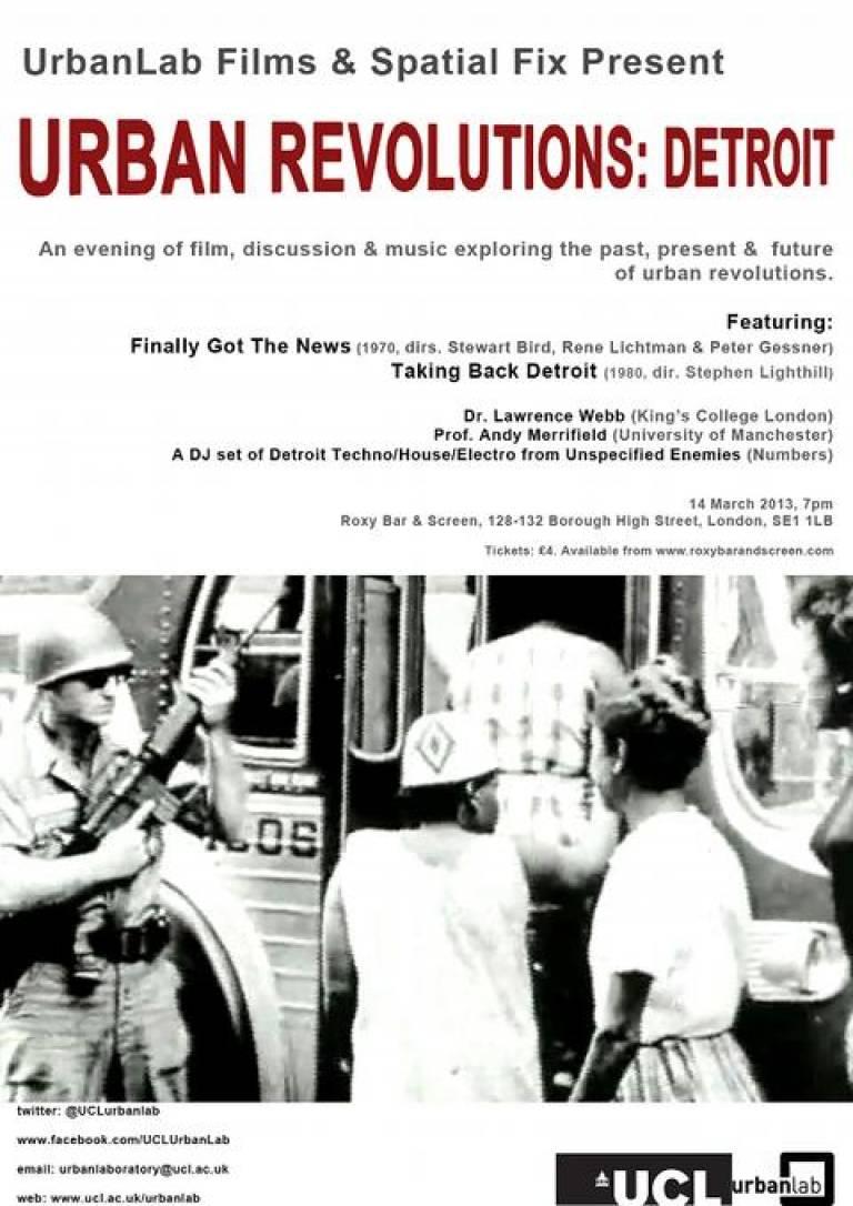 Urban Revolutions Detroit