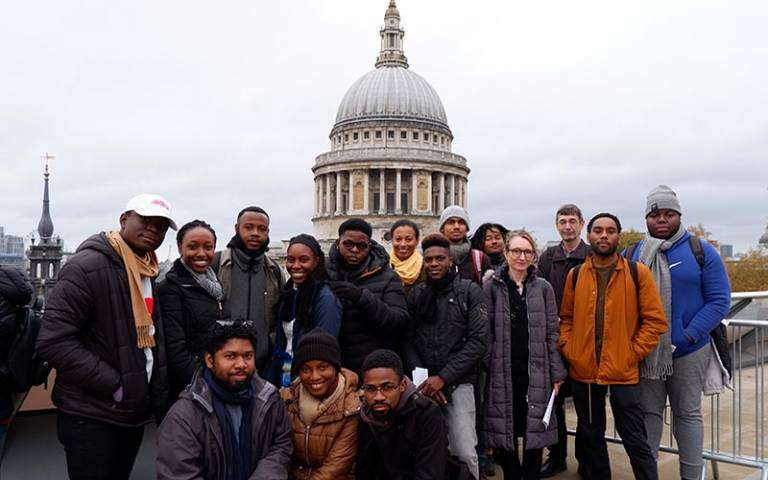 Caribbean School of Architecture's MArch, Year 1, Urban Study visit to London