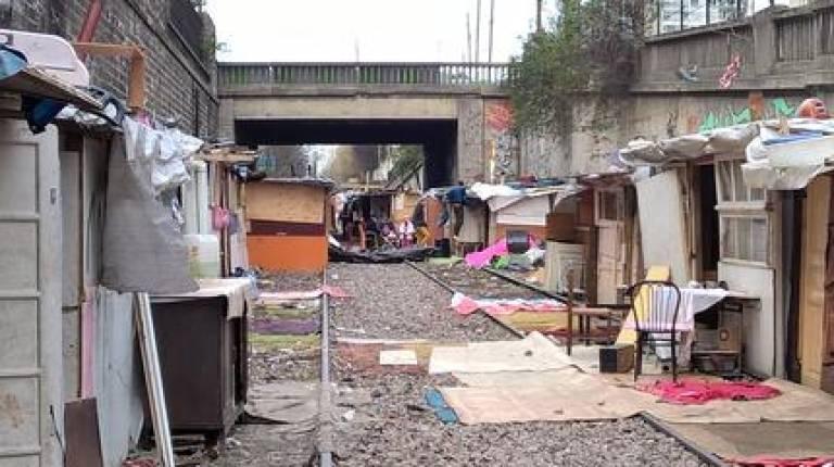 Slum in Paris by the Pont des Poissonniers André Feigeles Wikimedia