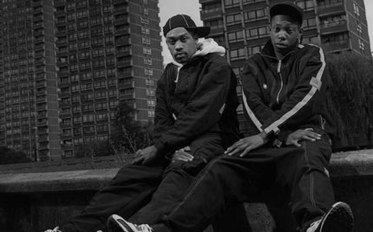 Dizzee Rascal and Wiley in London, August 2002 (Dave Tonge/Getty Images, image provided by publisher HarperCollins)
