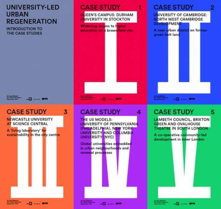 University-led urban regeneration case studies