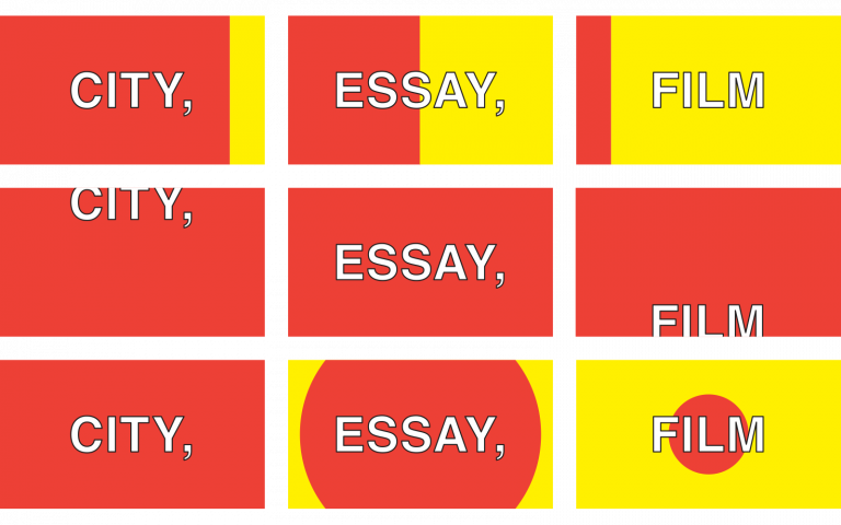 City, Essay, Film banner, designed by Matthew Chrislip