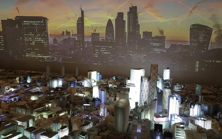 Model of central London skyline