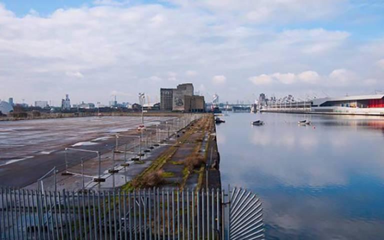 Royal Docks wasteland