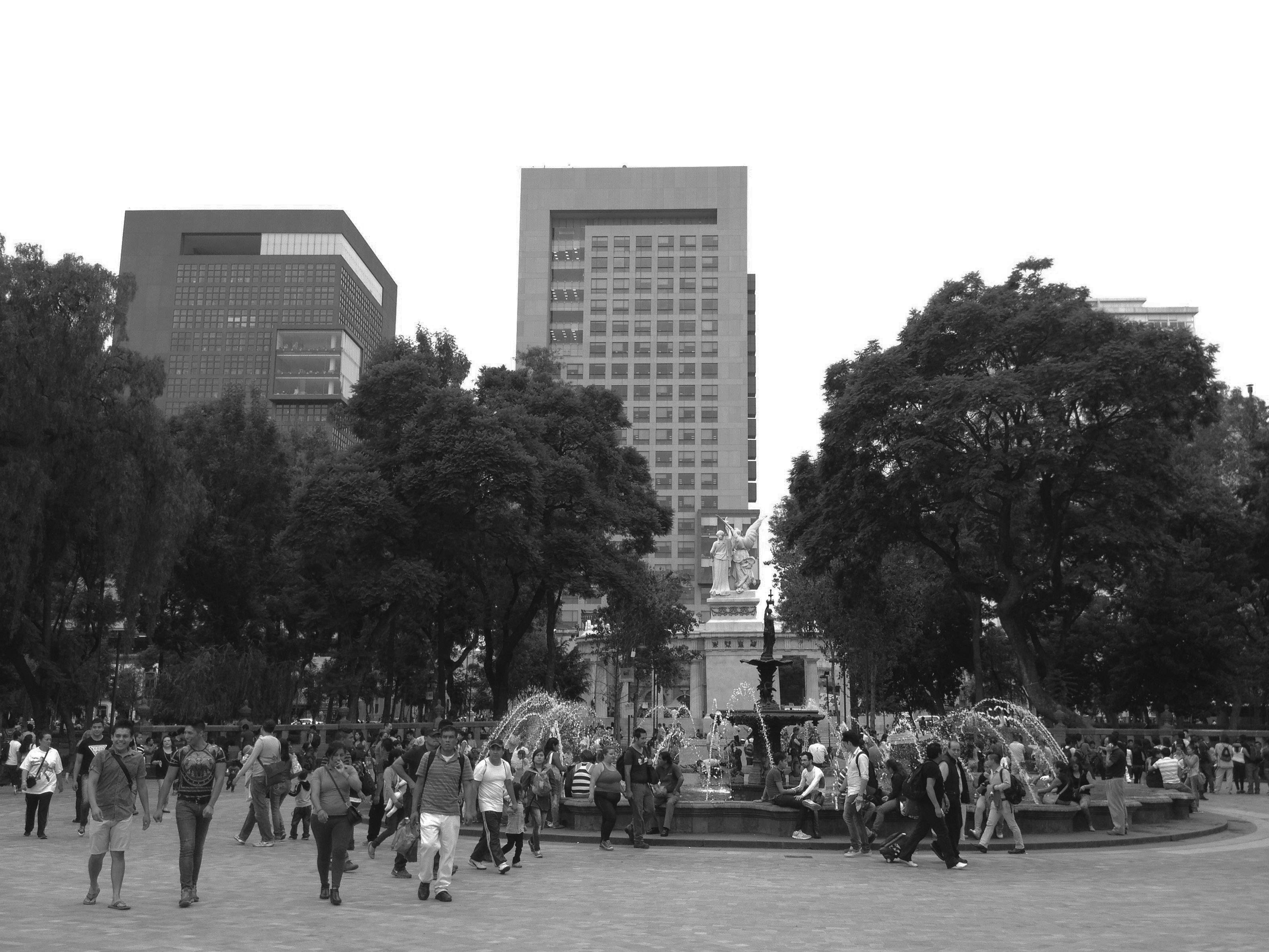 A Saturday afternoon in the Alameda Central in the Historic Centre of Mexico City
