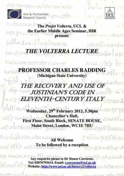 Volterra Lecture 1