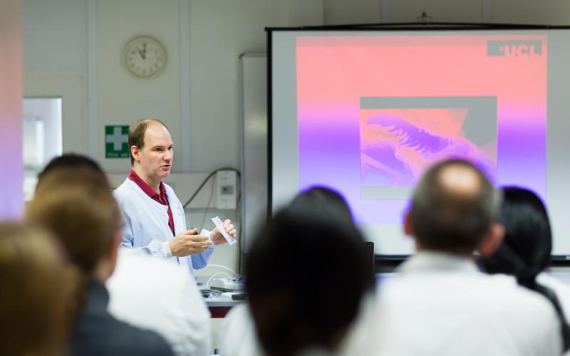 Teaching in lab