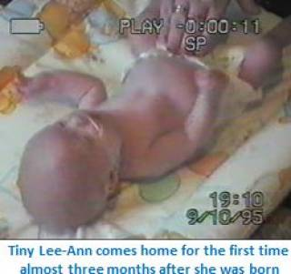 Lee-Ann baby - our young people