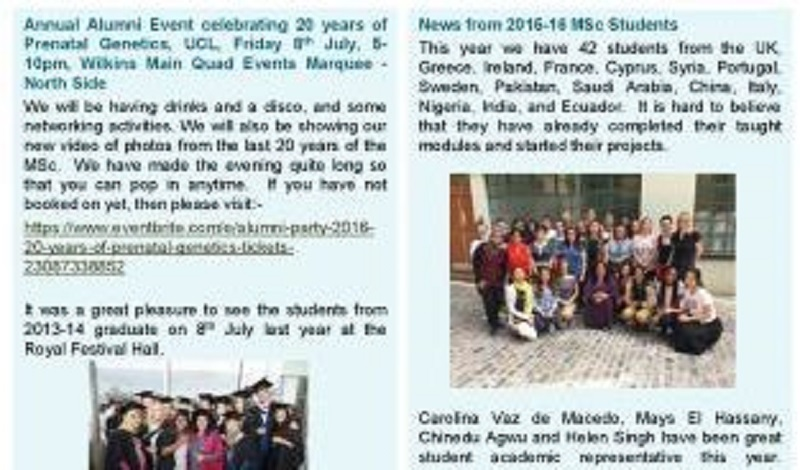 Alumni newsletters