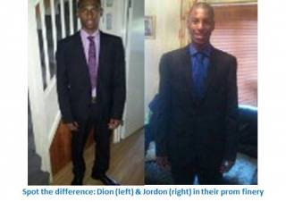 Jordan and Dion prom - our young people