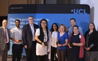 Group of staff receiving award at the PS conference