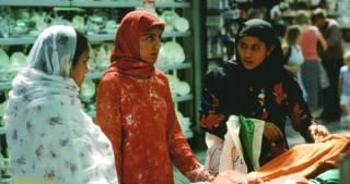 Women wearing a hijab in a shop