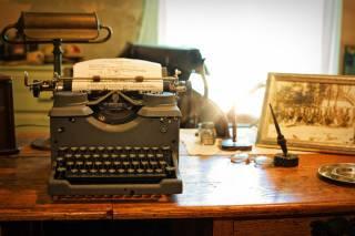 writing lab old typewriter