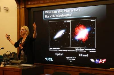 Dr Sarah Hutton lectures on invisible wavelengths…
